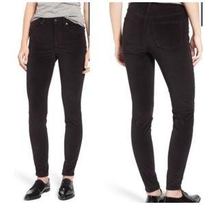 """Madewell 9"""" High Riser Velvet Skinny Jeans"""